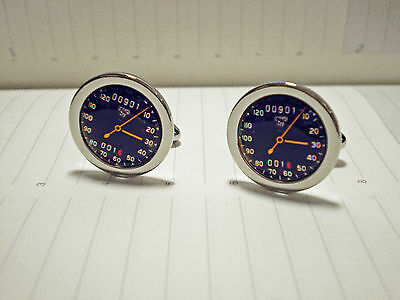 Cufflinks in the Style of The Vintage Smiths 1950's Motorcycle Speedometer dial.