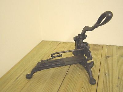 Antique Victorian Letterpress Lead and Rule 'Double' Cutting Edge Guillotine
