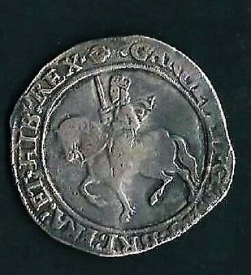 SIVER HAMMERED COINS-CHARLES 1st HALFCROWN 1625-1649