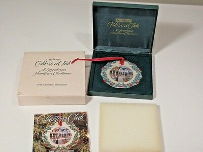 Longaberger Hometown 1998 Christmas Ornament Mint In Box