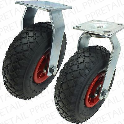 EXTRA LARGE SWIVEL/FIXED CASTOR WHEEL HOLD 130Kg Huge Industrial Air Tyre Caster