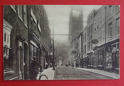 Postcard c.1910 CATHEDRAL & SOUTH AFRICAN WAR MEMORIAL WORCESTER WORCESTERSHIRE