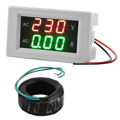 AC 130-500V Digital Voltmeter Ammeter LED Volt Meter Current Transformer MA392