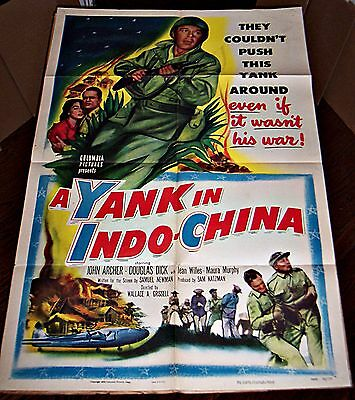 A Yank In Indo-China (1952) Rare Vietnam War Film * Orig 27X41 1-Sheet Poster