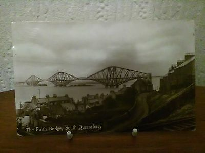 Real Photo Postcard The Forth Bridge, South Queensferry Used 1939