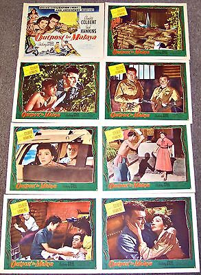 Outpost In Malaya (1952) Claudette Colbert Original 8 Card Lobby Set