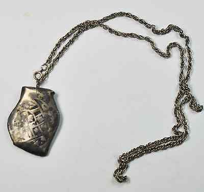 """Piece of 8 Reales Cob Mexico Silver Coin Sterling 22"""" Necklace"""