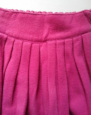 Deep Pink Benetton Skirt with part elasticated waist front gathering  two pocket