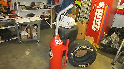 Nascar Race Used Dump Can Gas Fuel Pit Row Road Crew Stop Team Ford Chevy Dodge