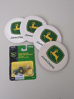 John Deere Ceramic Coasters and Keychain
