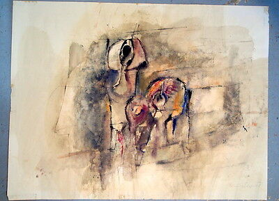 "Karl Kreutzberger  Original Gouache ""komposition"" 1968"