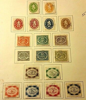 Bayern 1920 Used Stamps...worldwide Stamps