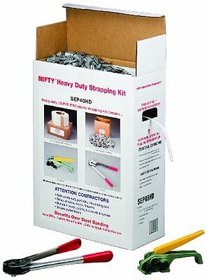 1003pc HD Polypropylene Jumbo Strapping Kit 7200ft Length x 1/2in Width White
