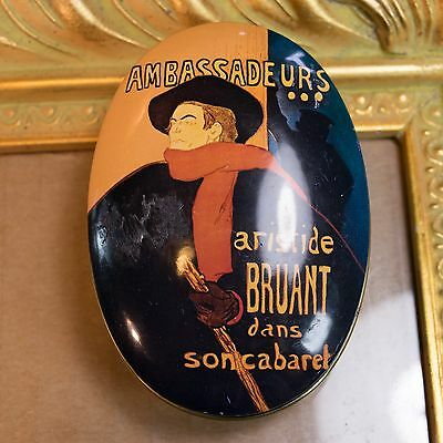 Artist Toulouse-Lautrec 'Aristide Bruant' Graphic AVON SOAP TIN Made in England