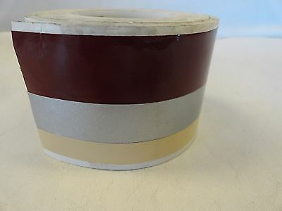 "Decal Tape Pin Stripe Burgundy Silver Beige 2-1/4"" X 25' Marine Boat"