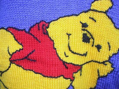 Retro/vintage Knitted Jumper - Winnie The Pooh Character - Immaculate - S/m