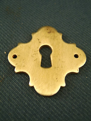 Victorian Cast Brass finish Key Hole Cover Escutcheon 1&9/16 in wide c1890s