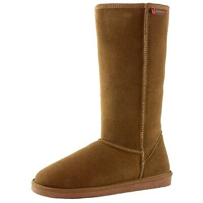 "Alpine Swiss Mia Tall Women's Shearling Boots 12"" Classic Sherpa Genuine Suede"