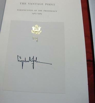 "US President Lyndon Johnson (LBJ) Signed Book ""The Vantage Point"""