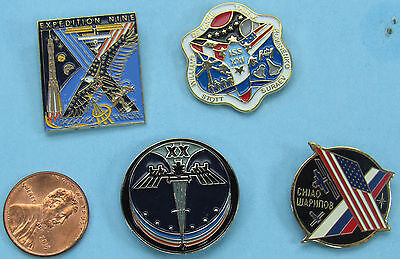 NASA enamel PIN Lot of 4 vtg ISS International Space Station EXPEDITION 9