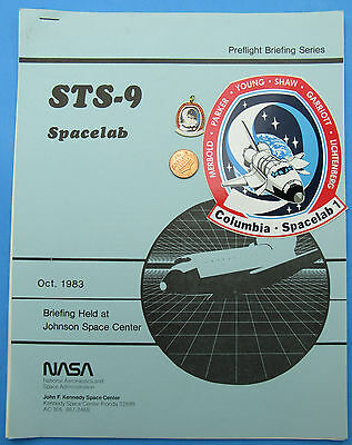NASA Pre-Flight Briefing - Sticker Charm - Space Shuttle SPACELAB STS-9 COLUMBIA