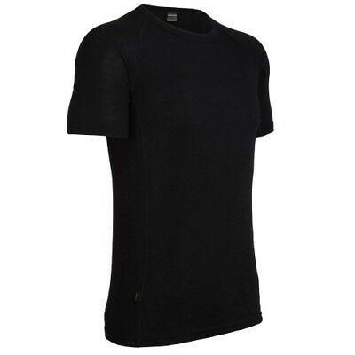 Icebreaker Everyday Ss Crew Mens Base Layer Top - Black All Sizes