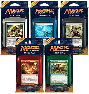 MAGIC THE GATHERING CCG - 2014 Core Set Cards Intro Packs Deck Set (5) #NEW