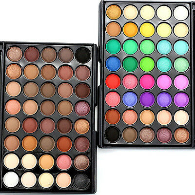 Palette 40 Couleur Fard Ombre à Paupieres Chaud Mat Glitter Eyeshadow Maquillage