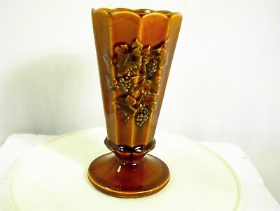 Vintage Mccoy Brown Vase Grapes Usa 7 Tall 2500 Picclick