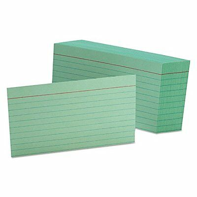 Ruled Index Cards 3 x 5 Green 100/Pack Index Card Guides Or Business Card Guide