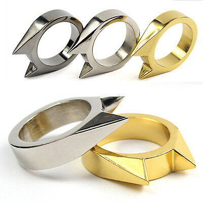 EDC Self Defence Stainless Steel Ring Finger Defense Ring Tool Survival Gear