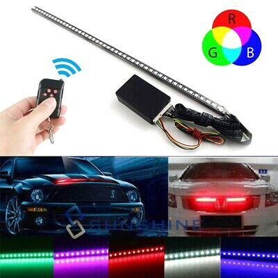 7 Color 48 LED RGB Scanner Flash Car Strobe Knight Rider Kit Light Strip 22 inch