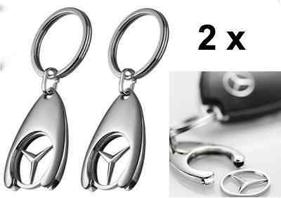 2 Pack Mercedes-Benz Collection Key Ring Chip Genuine B66956082 AMG ML SL Class
