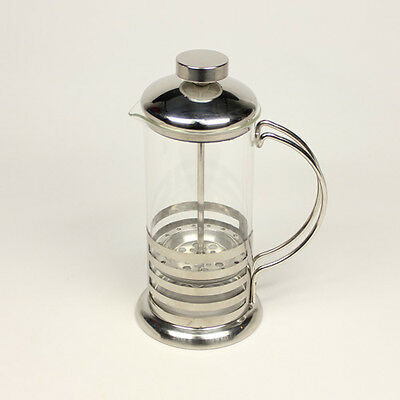 Brand new 350ml Stainless Steel Glass Tea Coffee Cup Plunger Press Maker HJ112