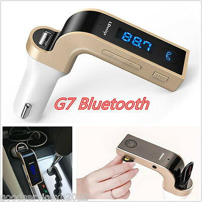 G7 Wireless Bluetooth Car LCD FM Transmitter Radio MP3 Player & Dual USB Charger