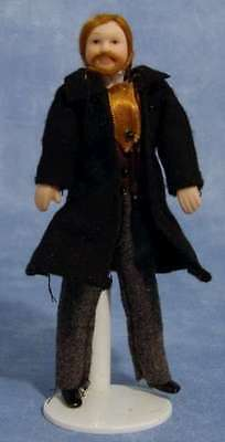 Dolls House Porcelain Victorian Man Doll : 12th scale Man Figure