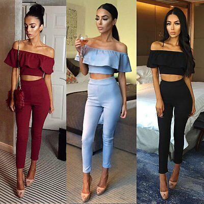 Women Ladies Sexy Summer Playsuit Party Clubwear Jumpsuit Romper Long Trousers