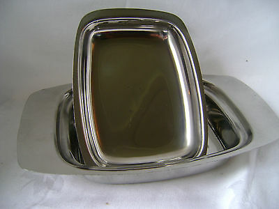 New Stainless Steel Butter Dish With Lid And Handles Sunnex