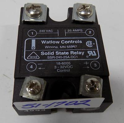 Watlow Controls Solid State Relay Ssr-240-25A-Dc1