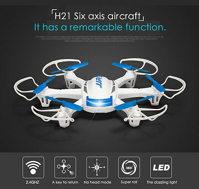 JJRC H21 RC Quadcopter 2.4G 4CH 6 Achse LCD Hexacopter 3D Wei? Drehfunktion