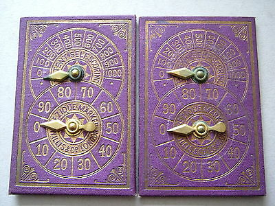 Willis London X2 Patent Self Scoring Bezique Score Keepers Antique Playing Cards