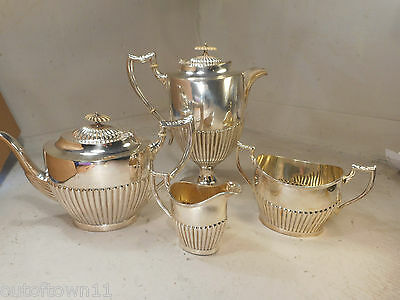 4 pc Silver Plate Teapot Set   ref 2314