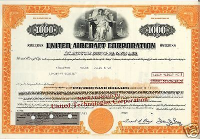 UNITED AIRCRAFT CORP ( now UT / UNITED  TECHNOLOGIES