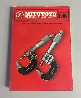 Mitutoyo Measuring Instruments Catalog 3000 1978 Precision Tools Machinist