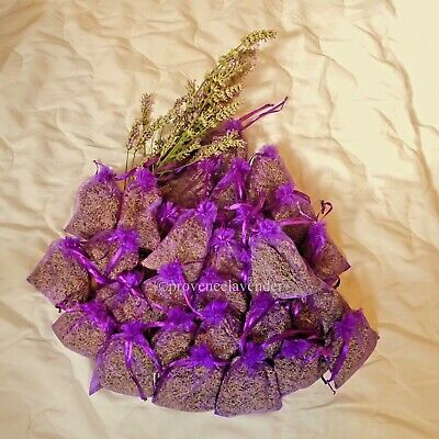 30x full bags Provence Pure Organic Lavender Organza Bags 9x 12cm Free P&P