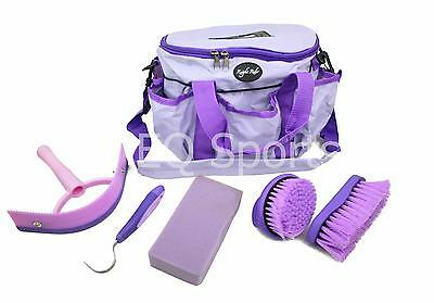 FREE P&P Knight Rider Canvas Tack Kit Bag & Grooming Accessories Lilac/Purple !!