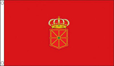 NAVARRE FLAG 5' x 3' Navarrese Spanish Spain Regional Flags