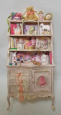 Dolls house miniature BESPAQ Nursery or Shop Filled Toy Cabinet