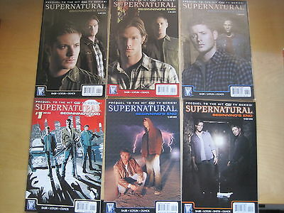 Supernatural :beginning's End, Complete 6 Issue Series.prequel To Tv Series.2010
