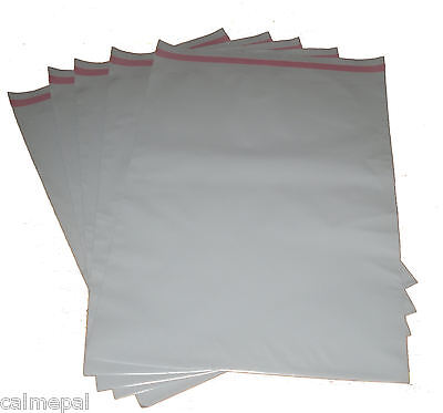 """40 x GREY PLASTIC POSTAGE MAILING MAIL BAGS 12""""x17"""""""